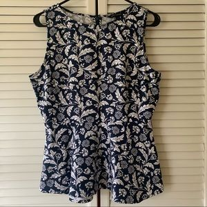 ‼️3/$15 Banana Republic Floral Peplum Blouse 8P
